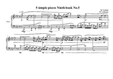 5 Simple pieces for piano: Ninth book No.5, MVWV 729 by Maurice Verheul