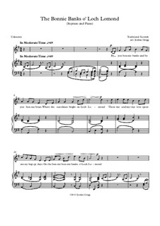 The Bonnie Banks o' Loch Lomon': For soprano and piano by folklore