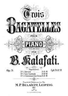 Three Bagatelles, Op.9: Three Bagatelles by Василий Калафати