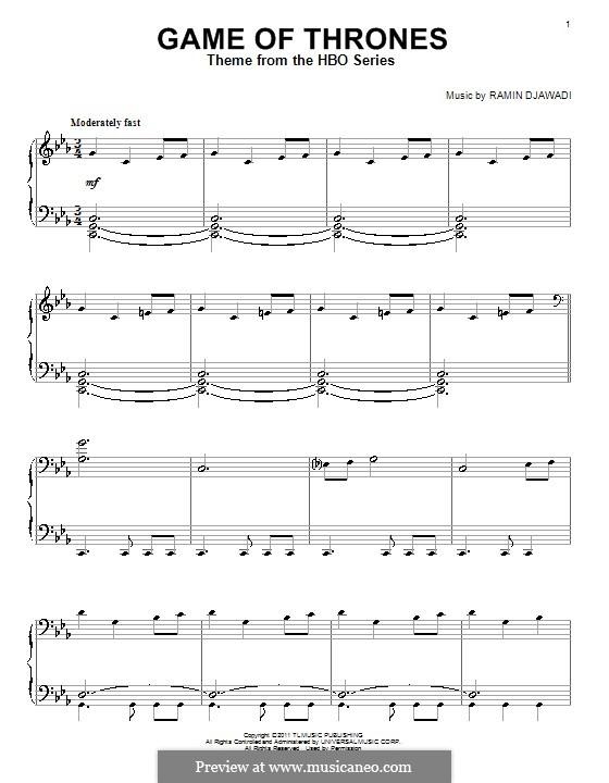 Game of Thrones: Для фортепиано by Ramin Djawadi