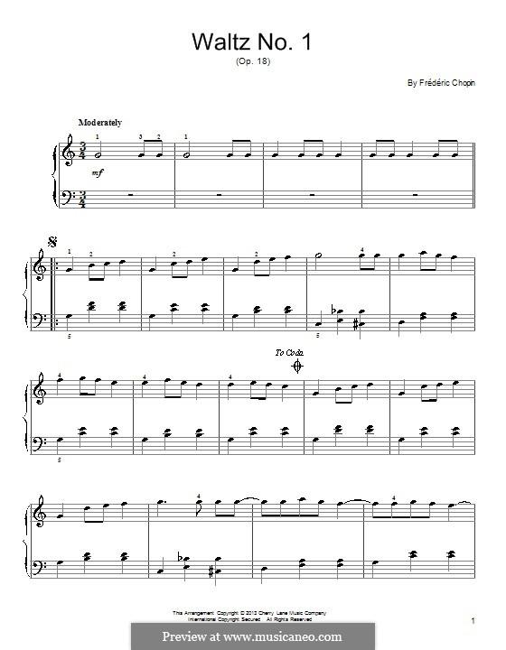 Большой блестящий вальс ми-бемоль мажор, Op.18: Для фортепиано by Фредерик Шопен