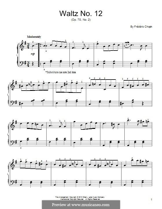 Вальсы, Op. posth.70: No.2 фа минор by Фредерик Шопен