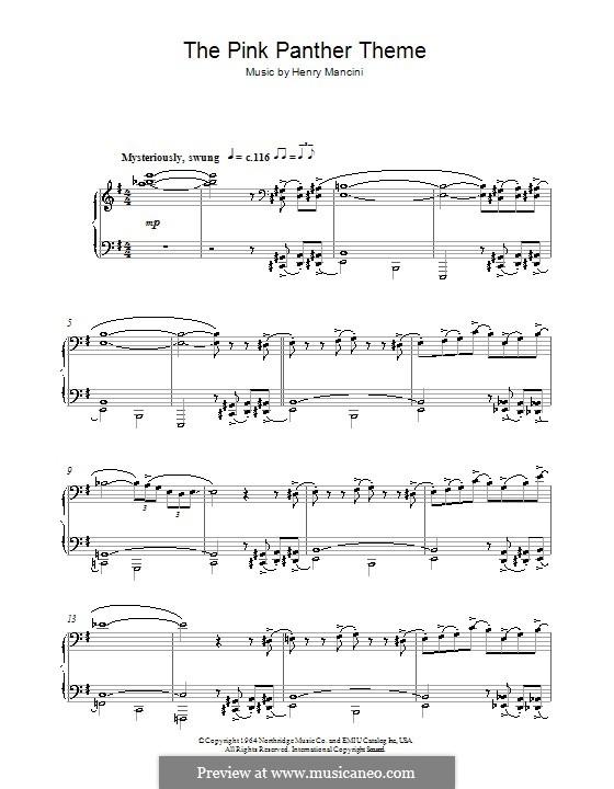 The Pink Panther: Для фортепиано by Henry Mancini
