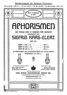 Aphorismen, Op.51: No.1 Deciso e risoluto, con brio by Зигфрид Карг-Элерт