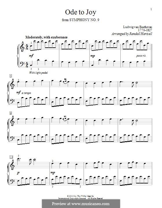 Ода к радости, для фортепиано: Для одного исполнителя by Людвиг ван Бетховен