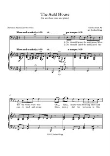 The Auld House: For solo bass voice and piano by folklore