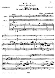 Трио для флейты, фагота и клавесина, WoO 37: Трио для флейты, фагота и клавесина by Людвиг ван Бетховен