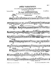 Марши для виолончели и фортепиано, WoO 45: Сольная партия by Людвиг ван Бетховен