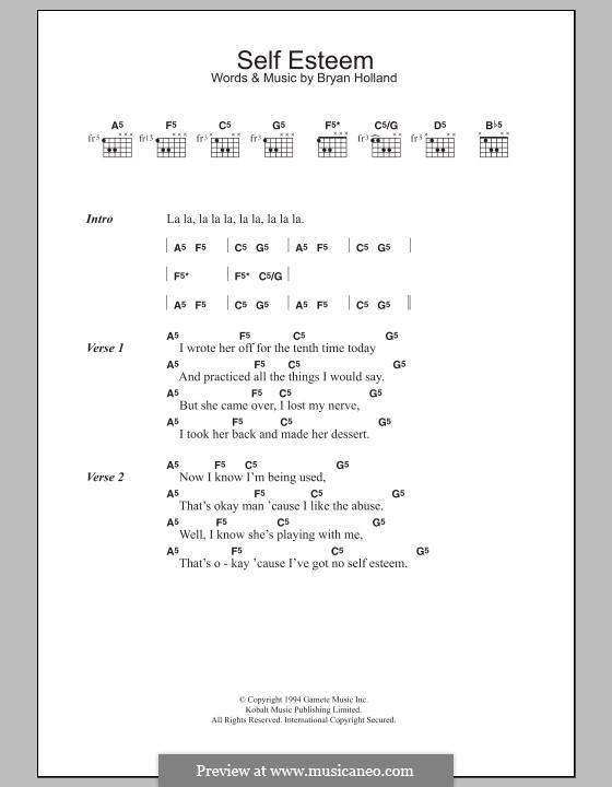 Self Esteem (The Offspring): Мелодия и аккорды by Dexter Holland