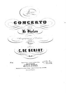 Концерт для скрипки с оркестром No.4, Op.46: Партитура, сольная партия by Шарль Берио