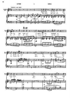 Scene and Aria 'Quando avran fine... Padre, germani, addio!': Aria for voice and piano by Вольфганг Амадей Моцарт