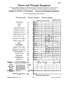 Большая траурно-триумфальная симфония, H.80 Op.15: Партитура by Гектор Берлиоз