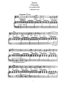 Летние ночи,  H.81 Op.7: No.1 Вилланелла by Гектор Берлиоз