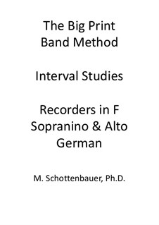 Interval Studies: Recorders in F (sopranino and alto). German fingering by Michele Schottenbauer