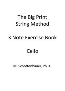 3-Note Exercise Book: Виолончель by Michele Schottenbauer