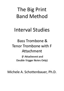 Interval Studies: Bass trombone and tenor trombone w/F-attachment by Michele Schottenbauer