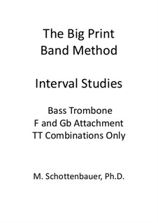 Interval Studies: Bass trombone (double trigger notes) by Michele Schottenbauer