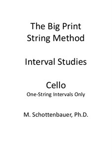 Interval Studies: One-String Intervals (cello) by Michele Schottenbauer