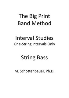 Interval Studies: One-String Intervals (string bass) by Michele Schottenbauer