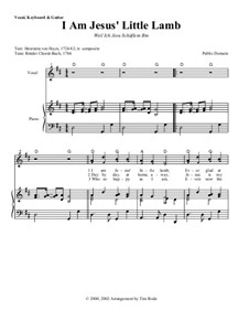 I Am Jesus' Little Lamb: Piano-vocal score (with chords) by Unknown (works before 1850)