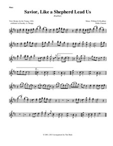 Savior, Like a Shepherd Lead Us: Instrument parts by William Batchelder Bradbury