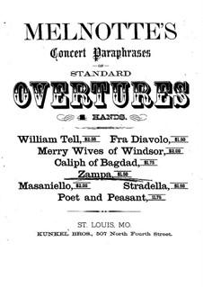 Цампа, или Мраморная невеста: Увертюра, для фортепиано в 4 руки by Фердинанд Герольд