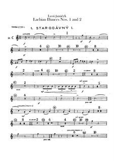 Лашские танцы, JW 6/17: Танцы No.1-2 – партии труб by Леош Яначек
