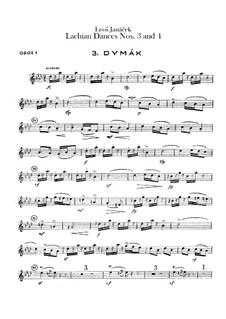 Лашские танцы, JW 6/17: Танцы No.3-4 – партии гобоев by Леош Яначек