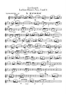 Лашские танцы, JW 6/17: Танцы No.3-4 – партии кларнетов by Леош Яначек