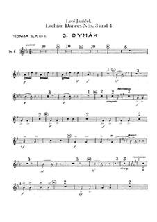 Лашские танцы, JW 6/17: Танцы No.3-4 – партии труб by Леош Яначек