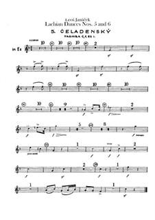 Лашские танцы, JW 6/17: Танцы No.5-6 – партии труб by Леош Яначек