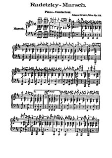 Марш Радецкого, Op.228: Piano-conducteur by Иоганн Штраус (отец)