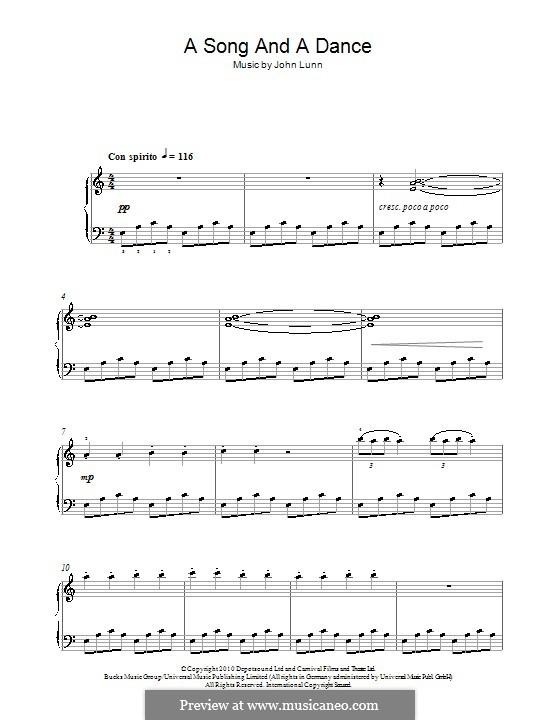 A Song and a Dance: Для фортепиано by John Lunn