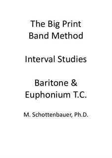 Interval Studies: Baritone & Euphonium (3-Valve) Treble Clef (T.C.) by Michele Schottenbauer