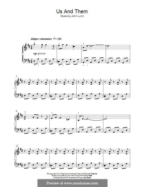 Us and Them: Для фортепиано by John Lunn