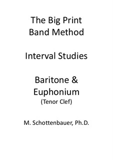 Interval Studies: Baritone & Euphonium (3-Valve) Tenor Clef by Michele Schottenbauer