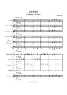 Chorale (for Grade 0.5 Band): Chorale (for Grade 0.5 Band) by Jordan Grigg