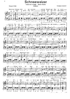 Снежный вальс: Для фортепиано by Томас Кошат