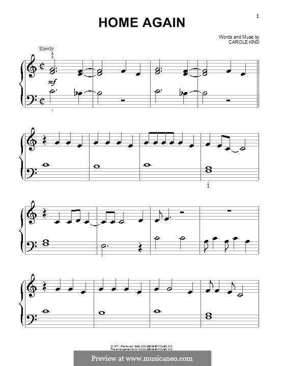Home Again: Для фортепиано by Carole King