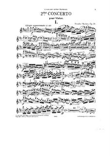 Концерт для скрипки с оркестром No.2 си минор, Op.36: Сольная партия by Тивидар Начес