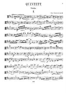 Фортепианный квинтет ре мажор, Op.16: Партия альта by Карел Навратил