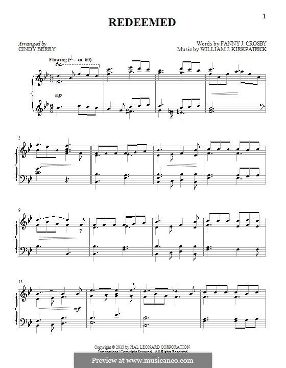Redeemed: Для фортепиано by Уильям (Джеймс) Киркпатрик