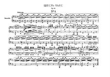 Шесть пьес для фортепиано в четыре руки, J.81-86 Op.10: Сборник by Карл Мария фон Вебер
