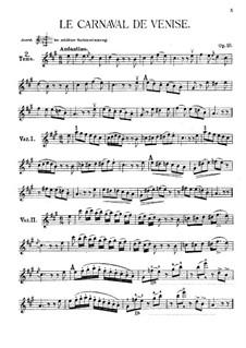 Венецианский карнавал, MS 59 Op.10: Для скрипки и фортепиано by Никколо Паганини
