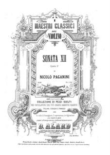 Соната для скрипки и фортепиано No.12, Op.3a: Соната для скрипки и фортепиано No.12 by Никколо Паганини