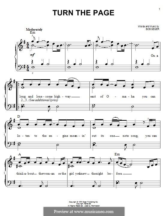 Turn the Page: Для фортепиано by Bob Seger