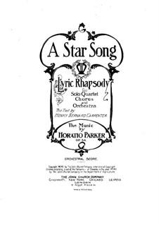 A Star Song, Op.54: Партитура by Горацио Паркер
