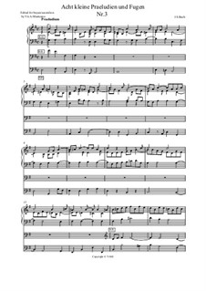 Маленькие прелюдии и фуги, BWV 553–560: Prelude and Fugue in E Minor. Arrangement for accordion (or bayan) by Иоганн Себастьян Бах