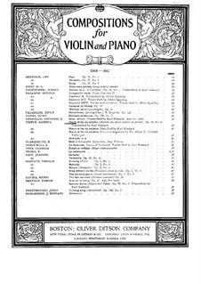 Album pour mes petits amis, Op.14: Марш оловянных солдатиков, для скрипки и фортепиано by Габриэль Пьерне