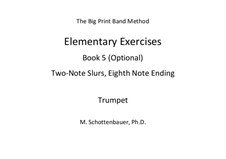 Elementary Exercises. Book V: Trumpet by Michele Schottenbauer